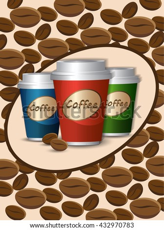 morning cup of coffee.Coffee Break . Coffee time, elements .Menu for restaurant, cafe, bar - stock vector