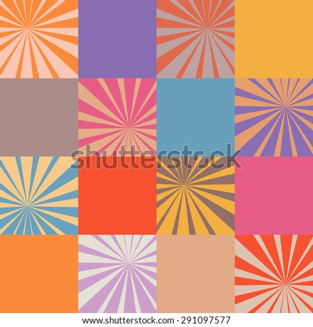morning star, texture, pattern - stock vector