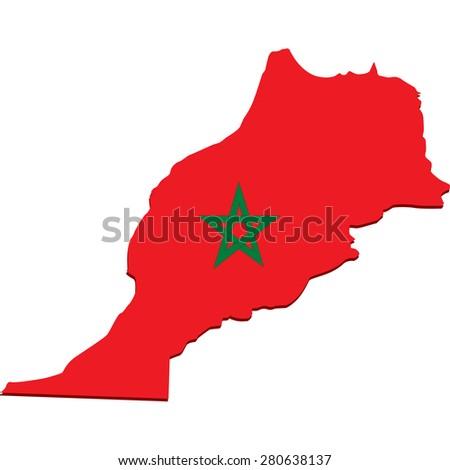 morocco - stock vector