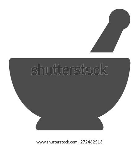Pharmacy Mortar And Pestle Vector