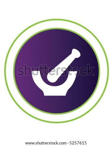 Mortar & Pestle - stock vector