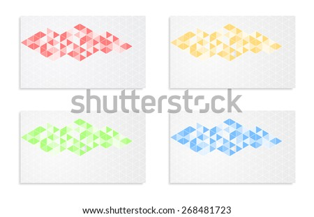 mosaic abstract background banner card design - stock vector
