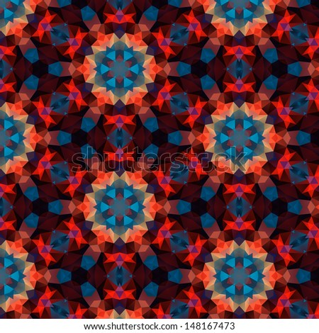 Mosaic background based on polygons - stock vector