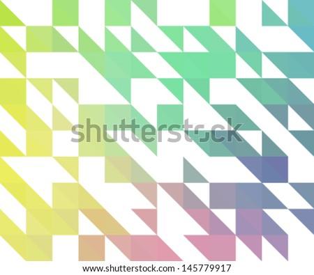 mosaic background. retro colors - stock vector