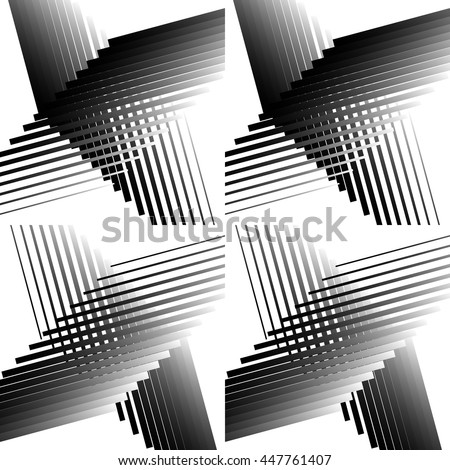 Mosaic of intersecting lines. Asymmetric grid, mesh. Irregular lines pattern. - stock vector