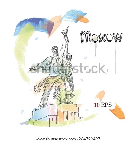 moscow - stock vector