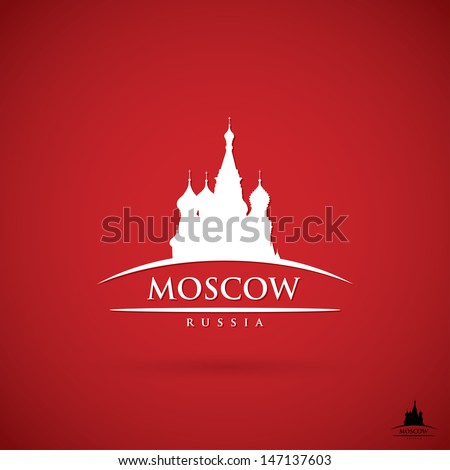 Moscow label - vector illustration - stock vector