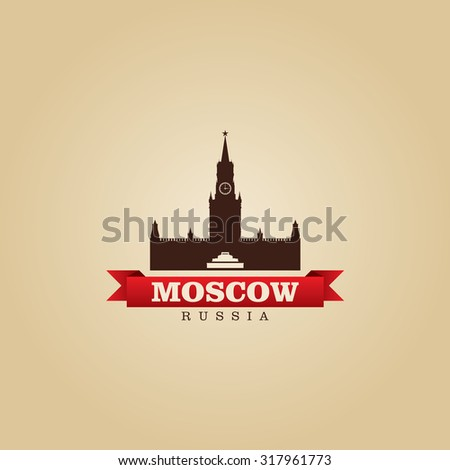 Moscow Russia city symbol vector illustration - stock vector