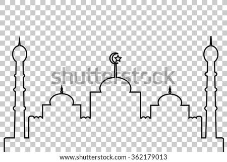 Mosque - Lines   - stock vector