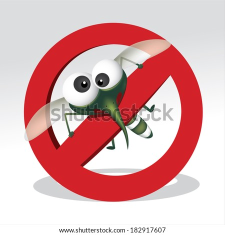 Mosquito repellent vector , stop mosquito sign , no mosquito. Vector illustration - stock vector