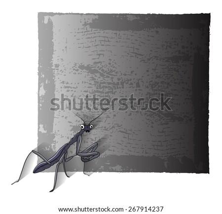 Mosquitoes Grunge Banner - stock vector