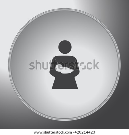 mother and child icon - stock vector