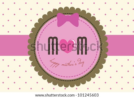 mother's day card for invitation, background, banners and others - stock vector