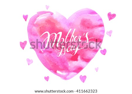 mothers day hand lettering handmade calligraphy. Vector illustration - stock vector
