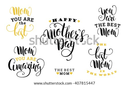 Mothers Day. Lettering design. Vector illustration. - stock vector