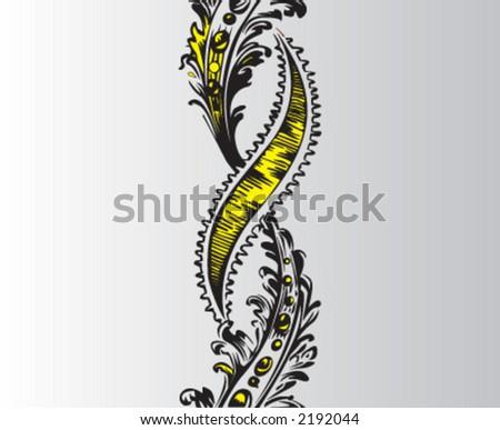 motif, ottoman motif - stock vector