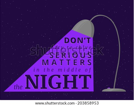 Motivational text composition which can be used like template for poster. - stock vector