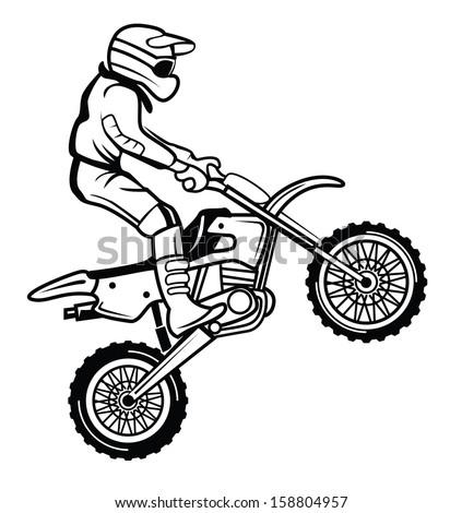 moto cross - stock vector