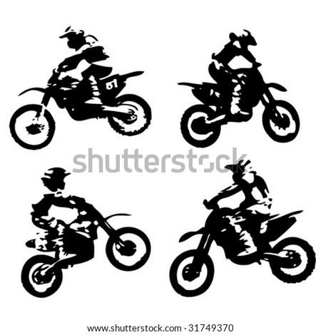 Motor cross - vector - stock vector