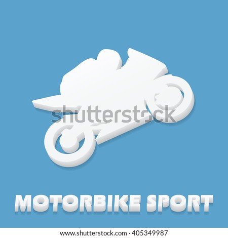 Motorbike and Bikers Man illustration, image. Creative, luxury gradient color style image. Print label, banner, icon, book, cover, card, website, web, greeting, invitation. 3D design - stock vector