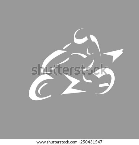 Motorbike motorcycle concept logo template. Moto emblem. Vector icon. Editable. - stock vector