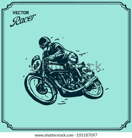 Motorbike Rider - stock vector