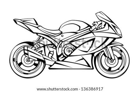Motorcycle - stock vector