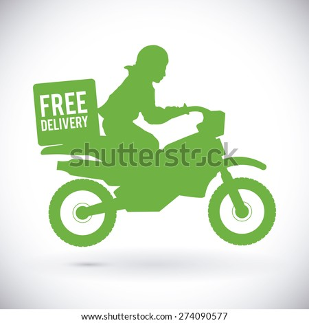 Motorcycle design over white background, vector illustration. - stock vector