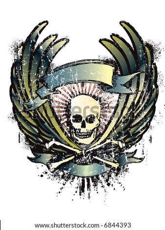 motorcycle emblem - stock vector