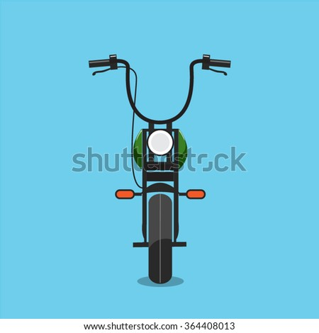 Motorcycle Front Simple - stock vector