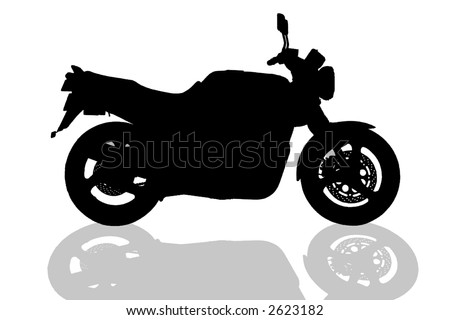 motorcycle illustration on white background - stock vector