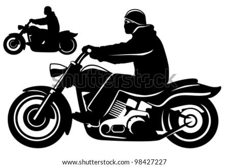 Motorcycle rider. - stock vector