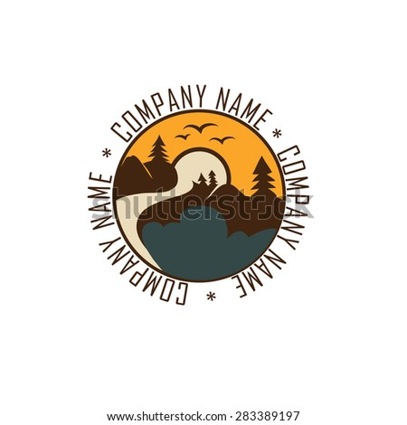Mountain adventure and expedition symbol ,vector illustration - stock vector