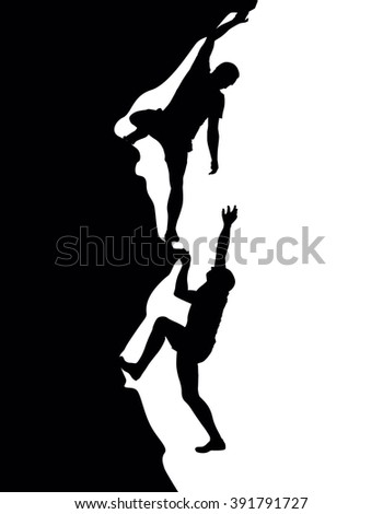 mountain climber - stock vector