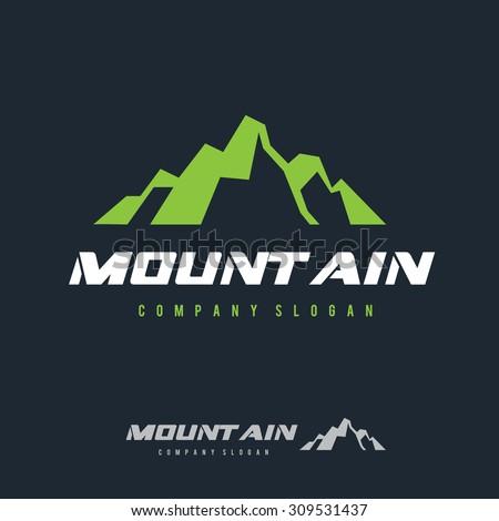 Mountain Logo,Outdoors Logo,Adventures Logo,Sports logo,Vector Logo Template - stock vector