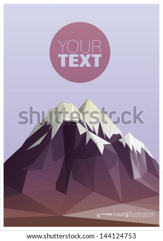 mountain low-poly style illustration - stock vector