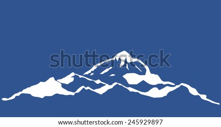 Mountain range isolated. Vector illustration. - stock vector