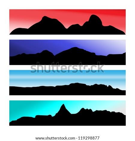 Mountain Skies - stock vector
