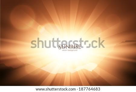 Mountain sunrise. Vector background. EPS10 - stock vector