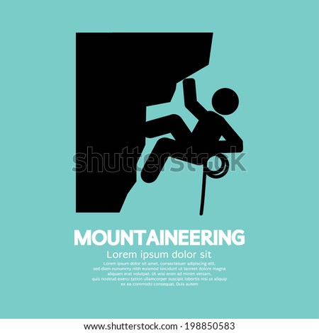 Mountaineering Graphic Symbol Vector Illustration - stock vector