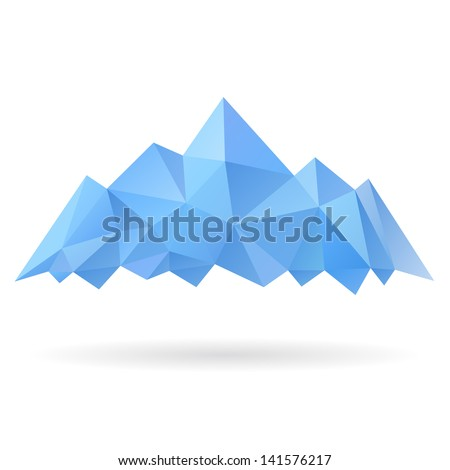 Mountains isolated on a white backgrounds - stock vector