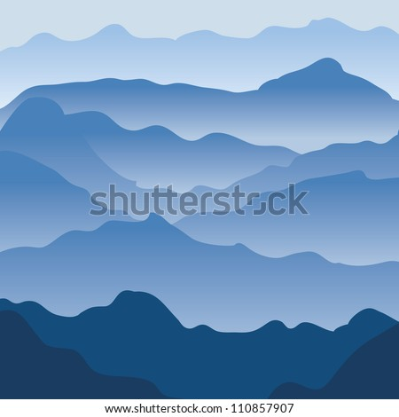Mountains. Vector background - stock vector