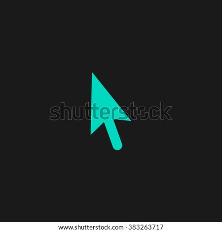 Mouse arrow cursor. Flat simple modern illustration pictogram. Collection concept symbol for infographic project and logo - stock vector