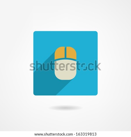 Mouse icon - stock vector
