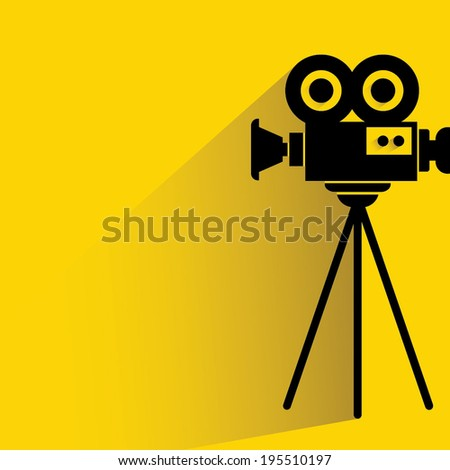 movie camera - stock vector
