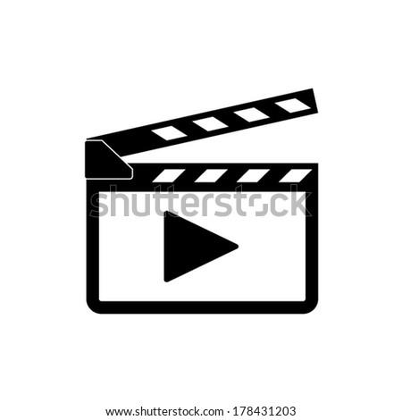 Movie clap - vector icon - stock vector