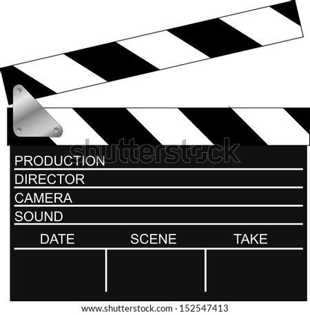 Movie clapboard. Vector Illustration - stock vector