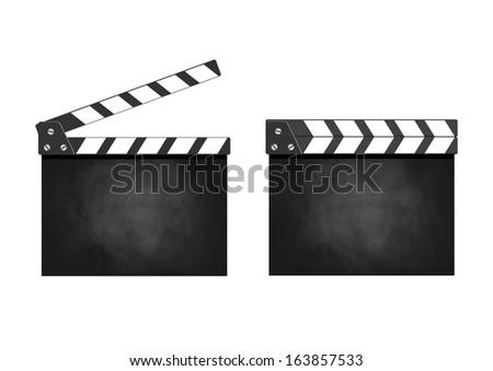 Movie clapper  - stock vector