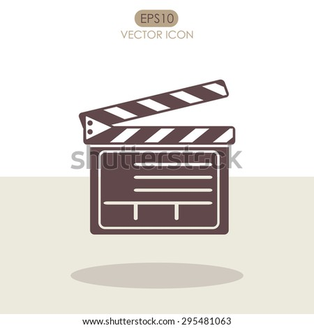 Movie clapper boards vector icon. - stock vector
