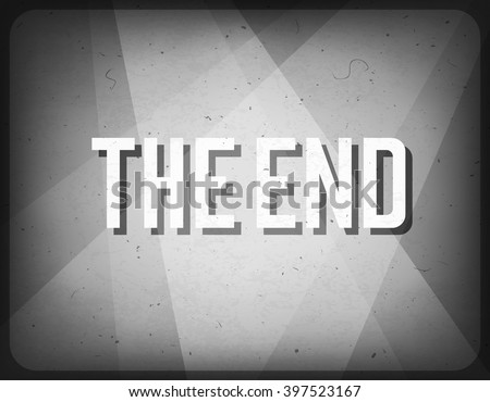 Movie ending screen. Cinema background. - stock vector